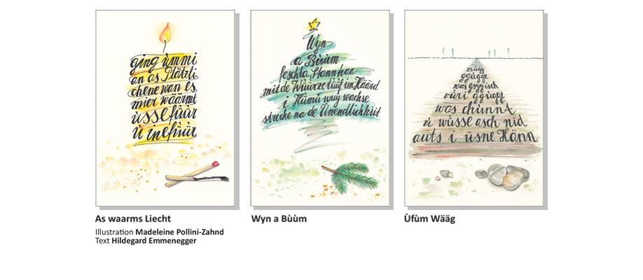 Sensler Karten: As waarms Liecht, Wyn a Buum, Ufum Wääg